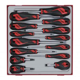 Jeu de tournevis Pl-ph-pz TTD-tray 14 pcs Teng Tools TTD914N