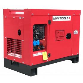 Groupe électrogène diesel 10,0kW 1x230V + 3x400V  MW-Tools DG100E