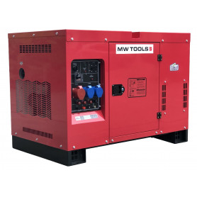 Groupe électrogène diesel 15,0kW 1x230V + 3x400V MW-Tools DG150E