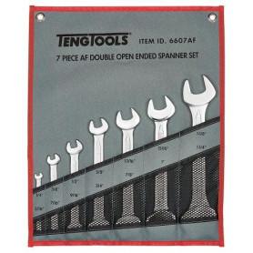 Jeu de clés à fourche pouce 7 pcs Teng Tools 6607AF