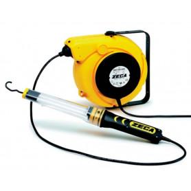 Enrouleur électrique avec baladeuse fluorescente 14+1,5m Zeca ZEFLUO