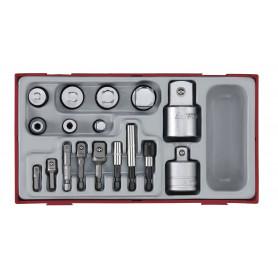 Set d'adaptateurs 17 pcs  Teng Tools TTADP17