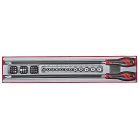 Set de tournevis, porte-embouts flexibles, douilles et embouts 1/4'' Teng Tools TTXMD41N