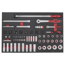 Set douilles et embouts 28 pcs dans plateau EVA Teng Tools TTESK126