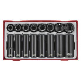 Douilles à choc courtes et longues 1/2'' 16 pcs Teng Tools TT9116N