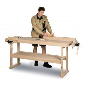 Établi en bois 1340x500 mm Holzkraft HB1401