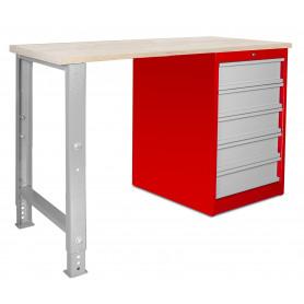 Établi modulaire avec armoire à tiroirs 120 cm MW-Tools MOD121R