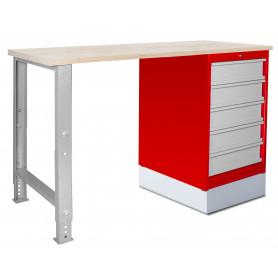 Établi modulaire 150 cm avec armoire à tiroirs MW-Tools MOD151R