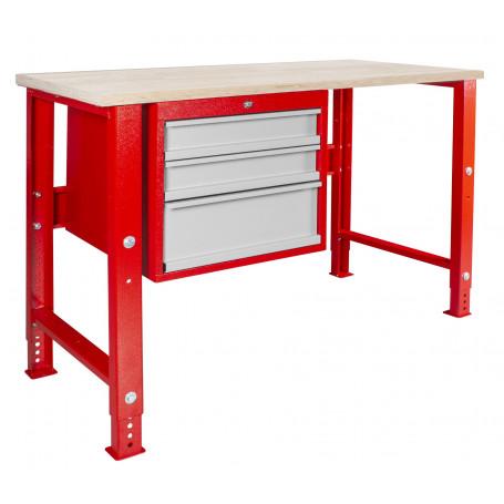 Établi modulaire avec armoire à tiroirs 120 cm MW-Tools MOD125