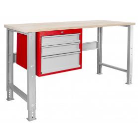 Établi modulaire 150 cm avec armoire à tiroirs MW-Tools MOD155R