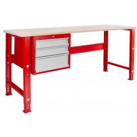 Établi modulaire avec armoire à tiroirs 200 cm MW-Tools MOD205