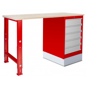 Établi modulaire 150 cm avec armoire à tiroirs MW-Tools MOD151
