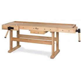 Etabli en bois lourd - 2100x700 mm Holzkraft HB2010