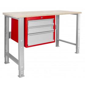 Établi modulaire avec armoire à tiroirs 120 cm MW-Tools MOD125R