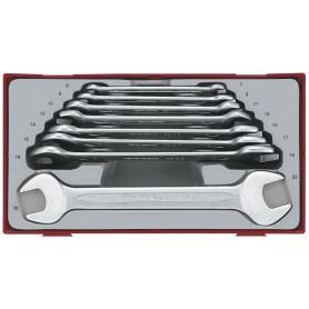 Jeu clés plates doubles 8pcs 6-22mm Teng Tools TT6208