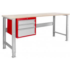 Établi modulaire avec armoire à tiroirs 200 cm MW-Tools MOD205R