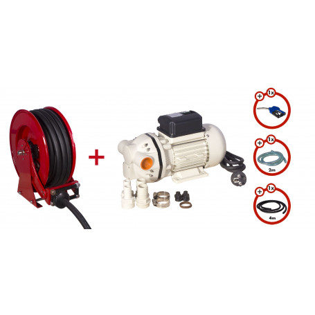 Pack enrouleur tuyau AdBlue de 15m avec pompe 230v MW-Tools SHAD3415 SET3 230