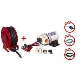 Pack enrouleur tuyau AdBlue de 15m avec pompe 12v MW-Tools SHAD3415 SET3 12