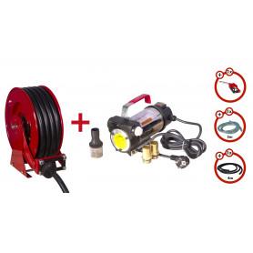 Pack enrouleur tuyau Diesel 15m avec pompe 230V MW-Tools SHD3415 SEST3 230