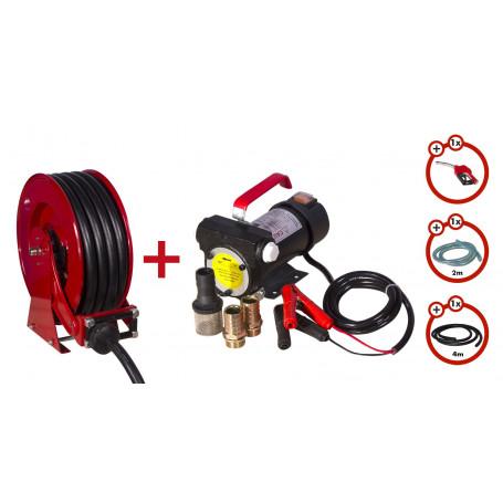 Pack enrouleur tuyau Diesel de 15m avec pompe 24v MW-Tools SHD3415 SET3 24