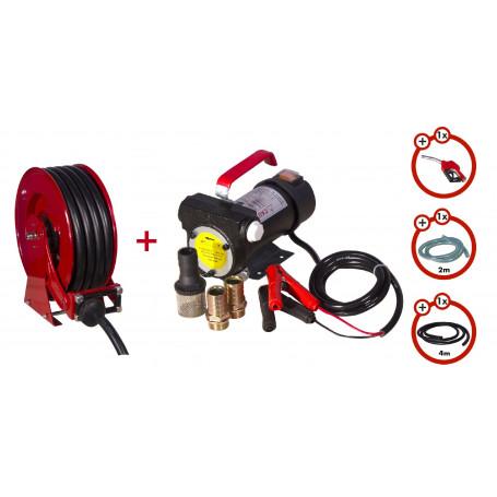 Pack enrouleur tuyau diesel de 15m avec pompe 12v  MW-Tools SHD3415 SET3 12
