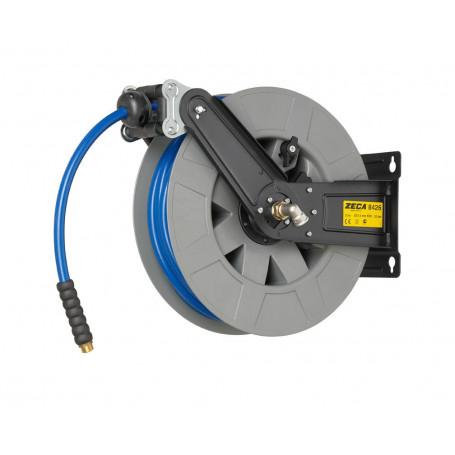 Enrouleur tuyau air/eau 20m - 10mm/12,5mm avec tuyau KPU  Zeca ZENO