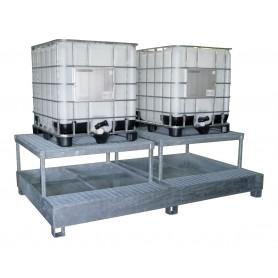 Bac de rétention 2 cuves IBC MW-Tools OPBHS24