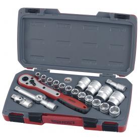 """Set de douilles 1/2"""" 6 pans de 21 pièces Teng Tools T1221-6"""