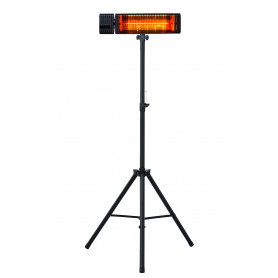 Chauffage électrique infrarouge 2,5 kW avec lampe ambre foncé et trépied télescopique MW-Tools IRS25AVD