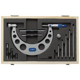 Set de micromètres extérieurs analogiques 0-150mm Limit MMS20150