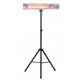 Chauffage infrarouge 2 kW avec lampe dorée et trépied télescopique MW-Tools IRS20GVD