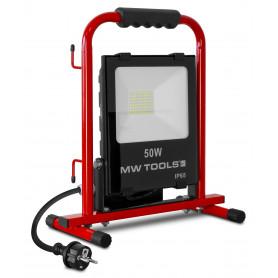 Lampe de chantier stable 50W avec 2 prises MW-Tools LCS50P
