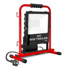 Lampe de chantier stable 80W avec 2 prises MW-Tools LCS80P