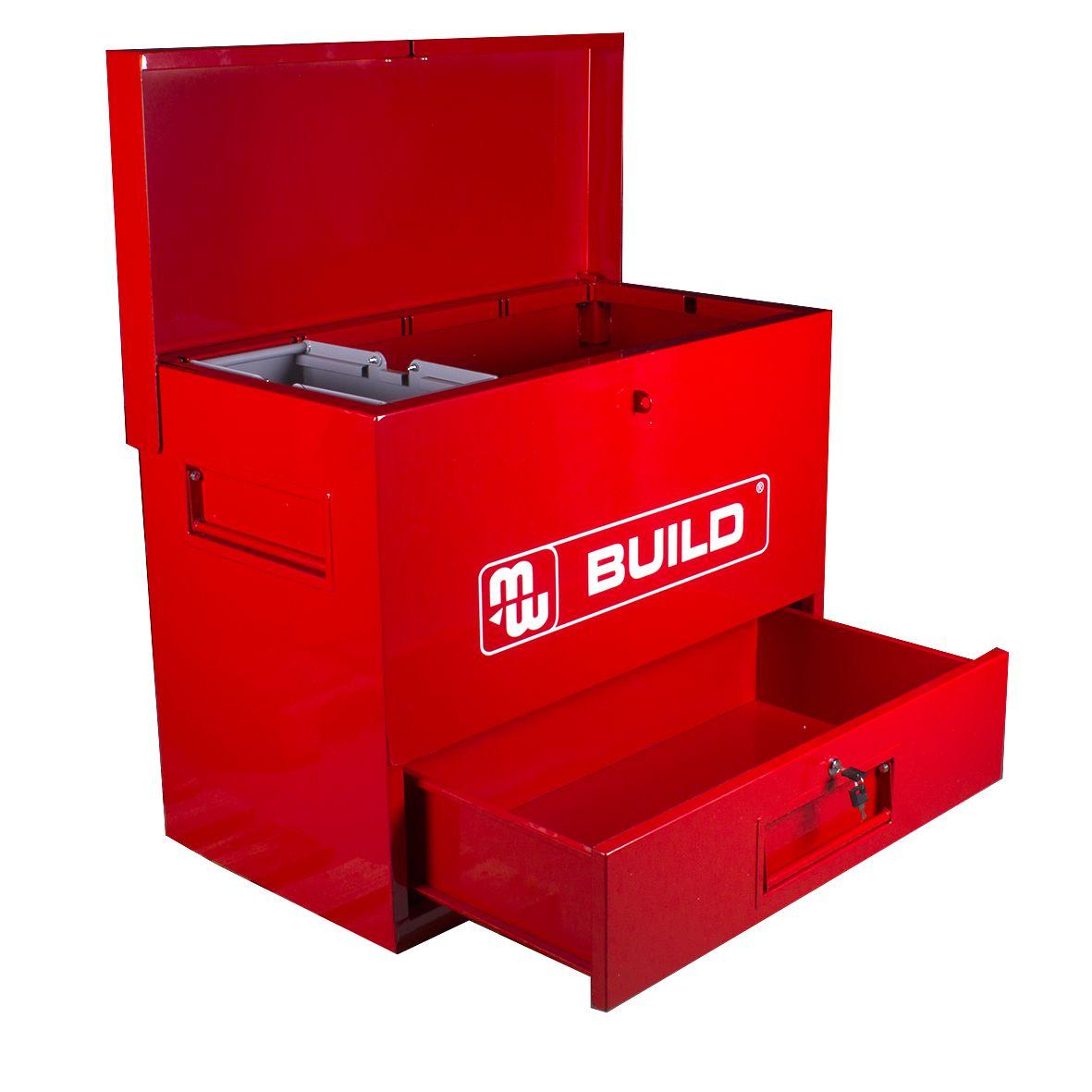 coffre de chantier m tal avec tiroir coffre de chantier mobilier d 39 atelier rangement d. Black Bedroom Furniture Sets. Home Design Ideas