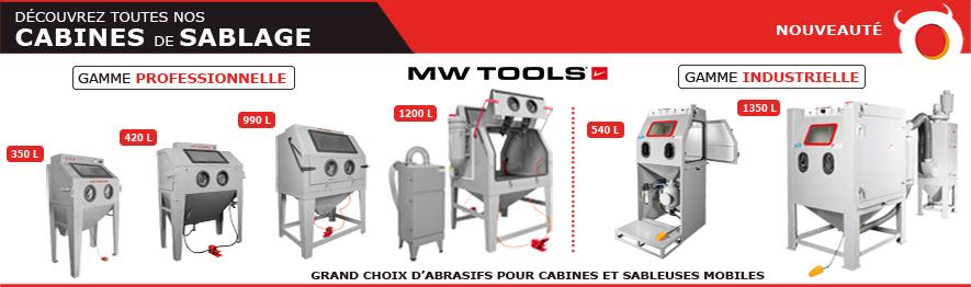 Cabines de sablage - sableuses professionnelles MW-Tools