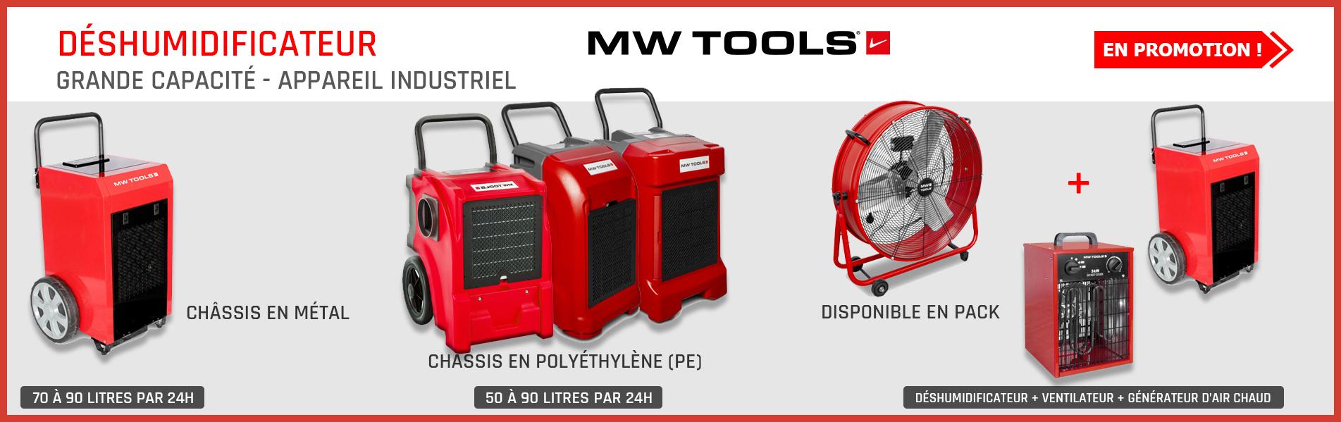 Déshumidificateurs professionnels MW-Tools : silencieux, écologiques et performants